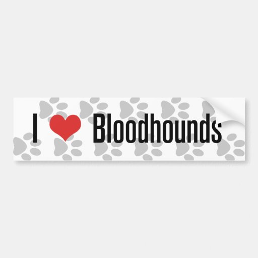 I (heart) Bloodhounds Bumper Stickers