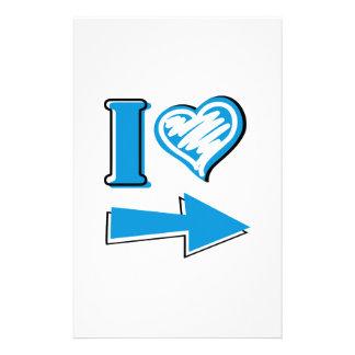 I Heart - Blue Arrow Stationery Design