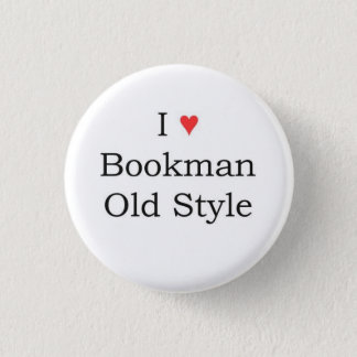 I heart Bookman Old Style Pinback Button