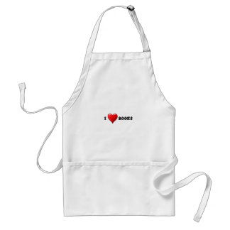 I heart books adult apron
