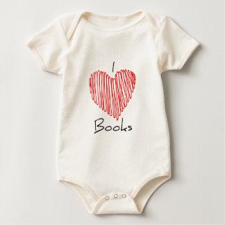 I Heart Books Baby Bodysuit