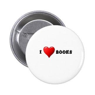 I heart books buttons