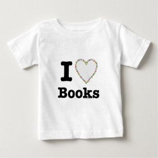 I Heart Books - I Love Books! Colorful Swirls Baby T-Shirt