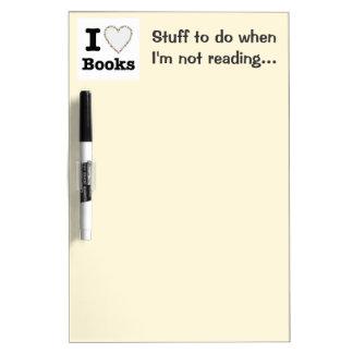 I Heart Books - I Love Books! Colorful Swirls Dry-Erase Board