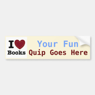 I Heart Books - I Love Books! (Double Heart) Car Bumper Sticker