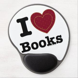 I Heart Books - I Love Books! (Double Heart) Gel Mouse Pad