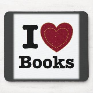 I Heart Books - I Love Books! (Double Heart) Mouse Pad
