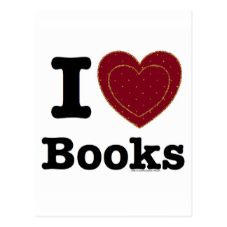 I Heart Books - I Love Books! (Double Heart) Postcard