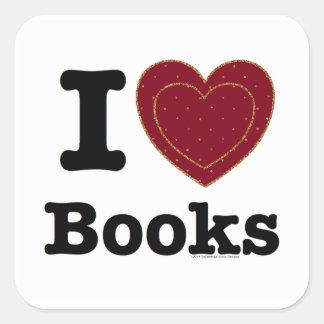 I Heart Books - I Love Books! (Double Heart) Sticker