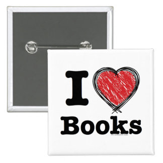 I Heart Books I Love Books Scribbled Lines Pin