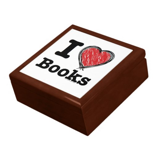 I Heart Books! I Love Books! (Scribbled Lines) Gift Boxes