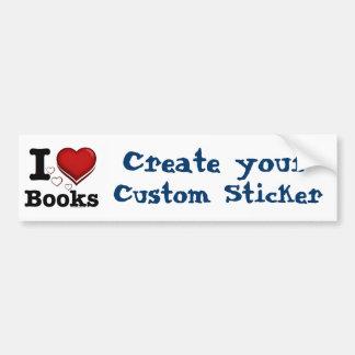 I Heart Books! I Love Books! (Shadowed Heart) Bumper Sticker