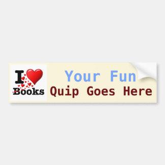I Heart Books! I Love Books! (Trail of Hearts) Car Bumper Sticker