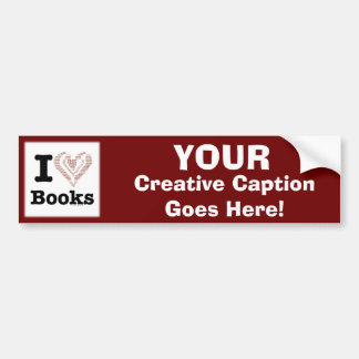 I Heart Books - I Love Books! (Word Heart) Bumper Sticker