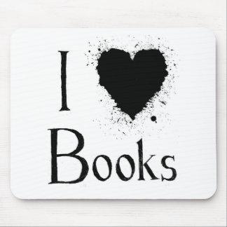 I Heart Books Mouse Pad