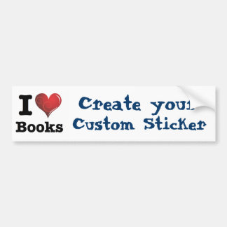 I heart books Swirly Curlique Heart 02 FADE 4000x4 Car Bumper Sticker