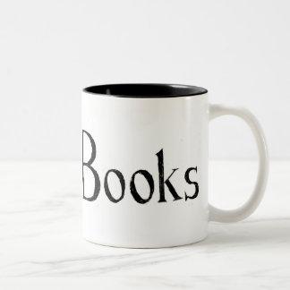 I Heart Books Two-Tone Coffee Mug