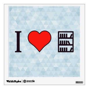 I Heart Books Wall Decal