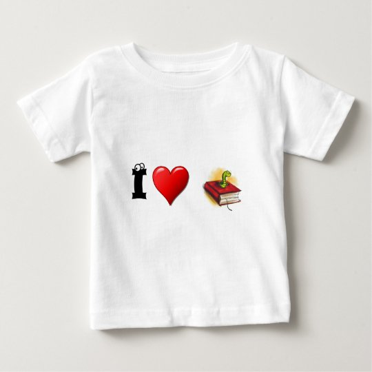 I heart Bookworms Baby T-Shirt