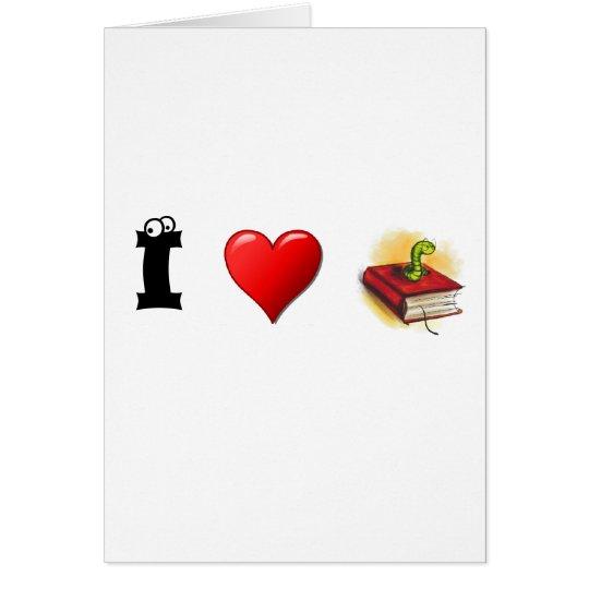 I heart Bookworms Card