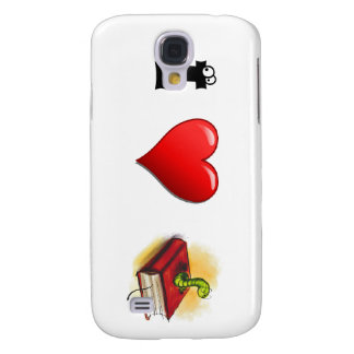 I heart Bookworms Galaxy S4 Covers