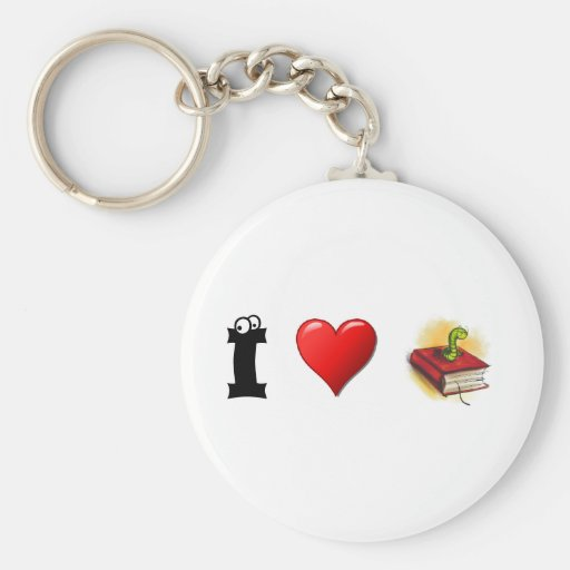I heart Bookworms Keychains