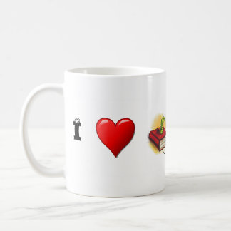 I heart Bookworms Mugs