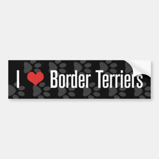 I (heart) Border Terriers Bumper Stickers
