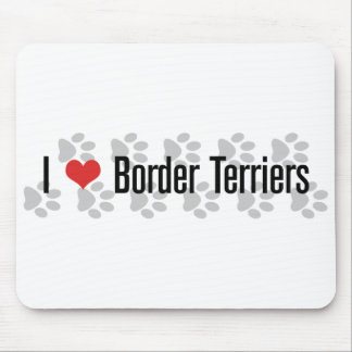 I (heart) Border Terriers Mouse Pad