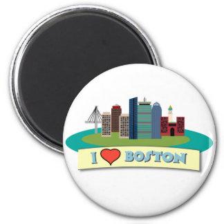 I Heart Boston 2 Inch Round Magnet