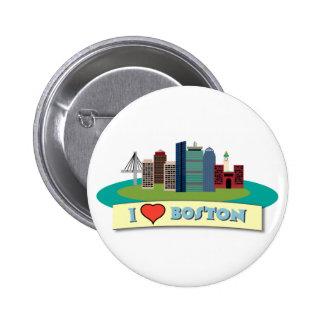 I Heart Boston Pins