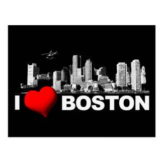 I Heart Boston [Darkness] Postcard