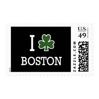 I Heart Boston (green clover) Postage Stamps