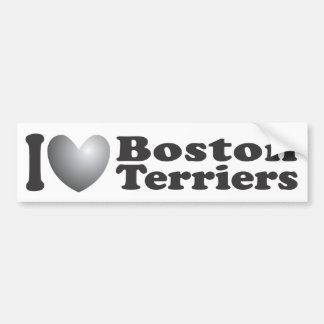 I Heart Boston Terriers - Bumper Sticker Car Bumper Sticker
