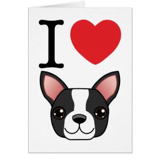 I Heart Boston Terriers Card