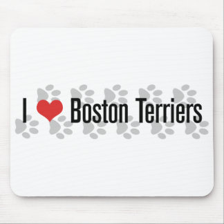 I (heart) Boston Terriers Mouse Pad