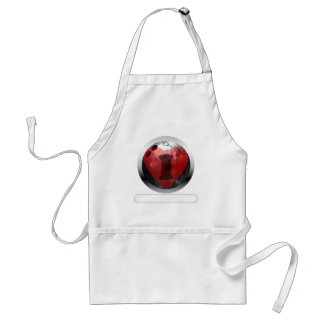 I heart Bowling- add your words Adult Apron