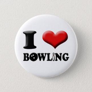 I Heart Bowling Button