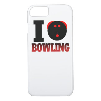 I Heart Bowling iPhone 7 Case