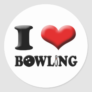 I Heart Bowling Sticker