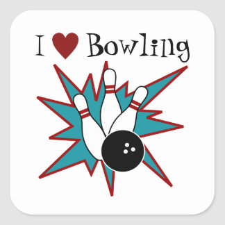 I heart Bowling Stickers