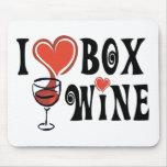 I Heart Box Wine1 Mouse Pads