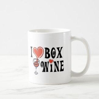 I Heart Box Wine4 Mugs