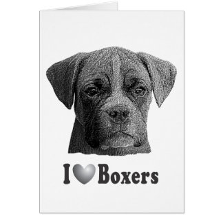I Heart Boxers w/Stylized Image Card