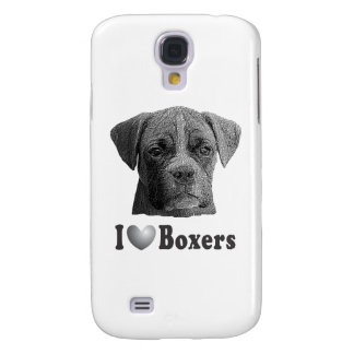 I Heart Boxers w/Stylized Image Samsung Galaxy S4 Cover