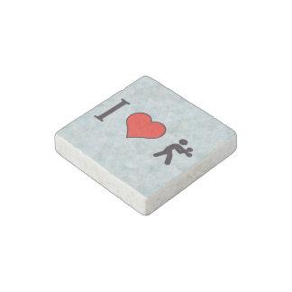 I Heart Boxing Stone Magnet