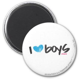 I Heart Boys Aqua Magnet