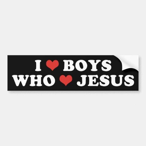 I Heart Boys Bumper Sticker