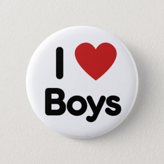 I heart boys button