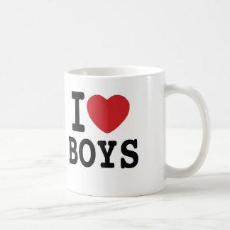 I Heart Boys Coffee Mug